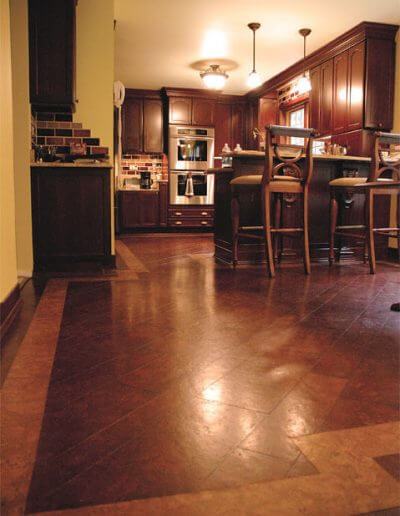 cork flooring with cork border