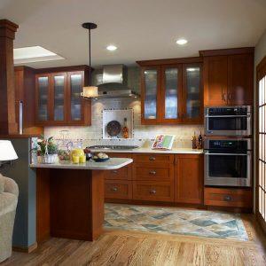 Red oak hardwood flooring with border