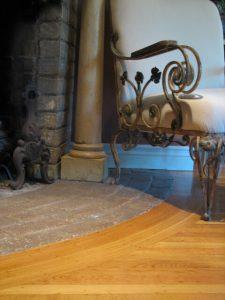 """5/16"""" x 2"""" white oak hardwood flooring with border"""