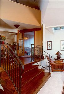 Stained Red Oak Hardwood Flooring Stairs