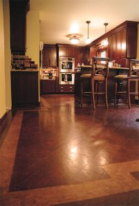 Cork Flooring with Border